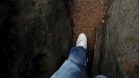 Feet walking Stock Video Footage