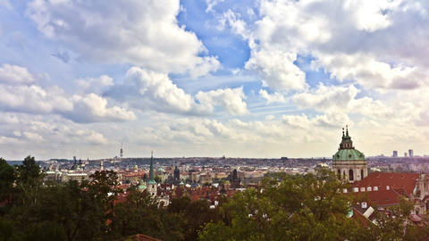 Prague. Time Lapse Stock Video Footage