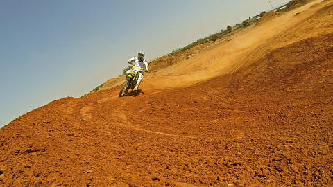 Sport Motocross exciting racing exciting tough Footage