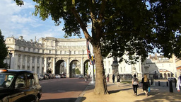 Front view of LONDON Admiralty Arch, London UK (LO Stock Video Footage