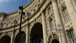 Close up view of Admiralty Arch front façade, Lon Stock Video Footage