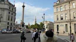 Panning from Admiralty Arch to the street, London Stock Video Footage