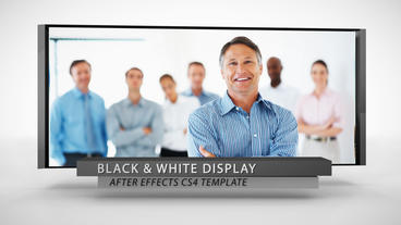 Black & White Display - After Effects Template After Effects Template