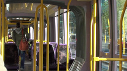 Journey On The Luas 2 Of 3 stock footage