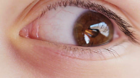 Eyes Macro Shot Stock Video Footage