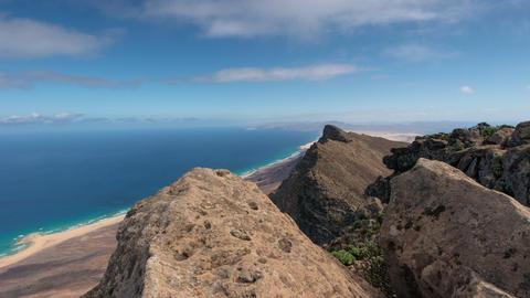 4k UHD time lapse clouds on top of Pico de la Zarz Stock Video Footage