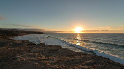 4k UHD time lapse sunset la pared beach 11141 Footage