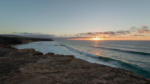 4k UHD time lapse sunset la pared beach 11141 Stock Video Footage