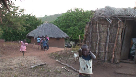 African Village (2) Stock Video Footage