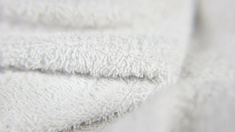White Towel Close Up Stock Video Footage