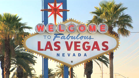 Welcome to Las Vegas sign Stock Video Footage