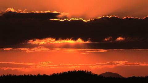 Sun setting, Time Lapse Stock Video Footage