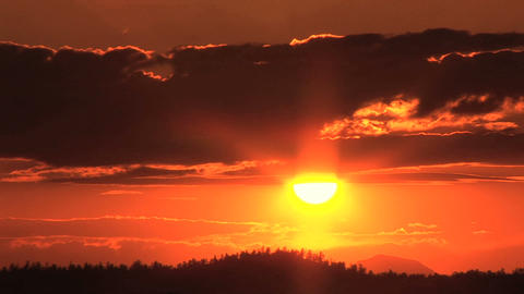 Sun setting, Time Lapse Stock Video Footage