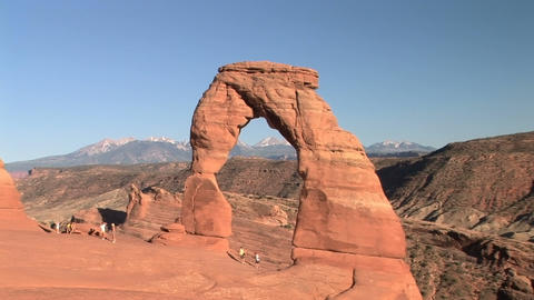 Arches National Park, Delicate Arch Stock Video Footage