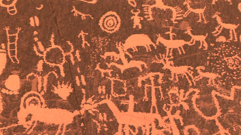 Newspaper Rock, Petoglyphs Footage