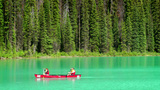 Emerald Lake Canoe stock footage