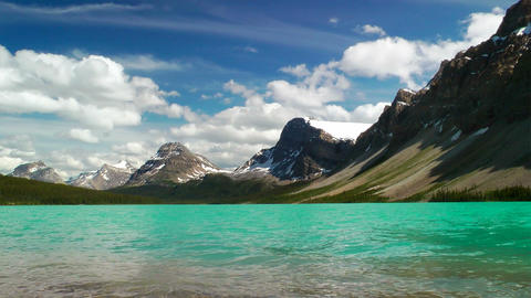 Bow Lake and Crowfoot Mountain Footage