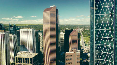 Calgary, view from Calgary Tower Stock Video Footage