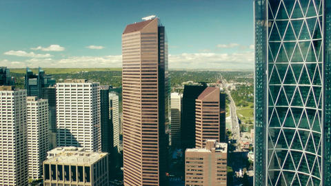 Calgary, view from Calgary Tower Footage