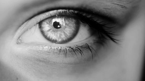 Eye Macro Shot White Stock Video Footage