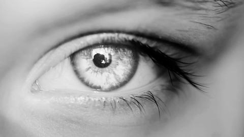 Eye Macro Shot White Stock Video Footage