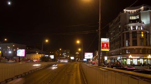 Night traffic hyperlapse Stock Video Footage