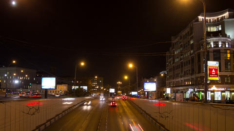 Night traffic hyperlapse Stock Video Footage