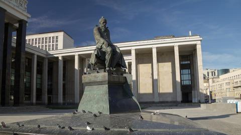 Dostoevsky monument hyperlapse Footage
