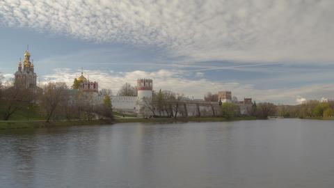 Novodevichy Pound hyperlapse Stock Video Footage