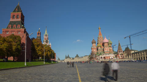 Red square hyperlapse 4K Stock Video Footage