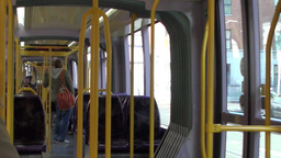 Journey on the Luas 3 of 3 Stock Video Footage