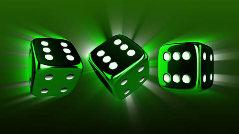 Casino Dices Spinning Animation