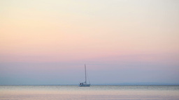 Yacht at sunset Stock Video Footage