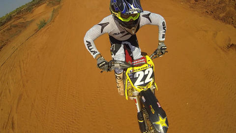 Sport Motocross exciting racing exciting tough Stock Video Footage