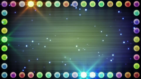frame of multicolor lighting bulbs loop Animation