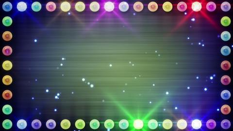 frame of multicolor lighting bulbs loop Stock Video Footage