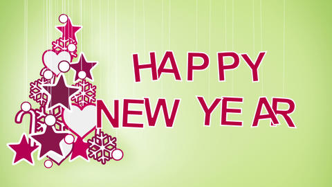 happy new year greeting loop Stock Video Footage