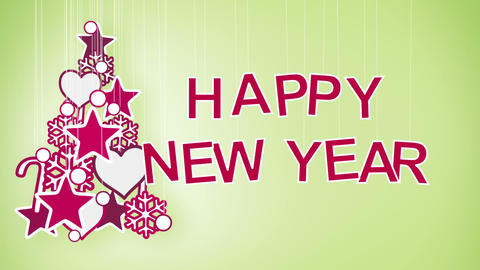 happy new year greeting loop Animation