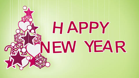happy new year greeting loop Stock Video Footage