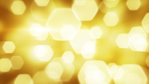 yellow blinking bokeh lights loop Stock Video Footage