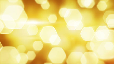 yellow blinking bokeh lights loop Stock Video Footage
