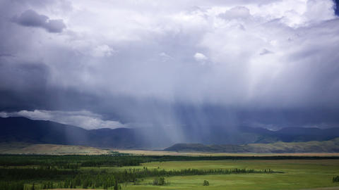 4K Rain storm over the mountains time lapse Stock Video Footage