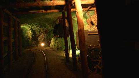 mining tunnel 04 Stock Video Footage