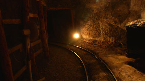 mining tunnel 06 Footage