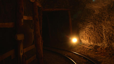 mining tunnel 06 Stock Video Footage