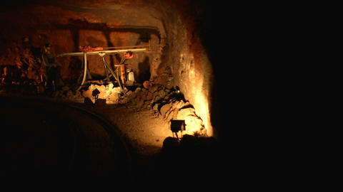 mining tunnel 10 Stock Video Footage