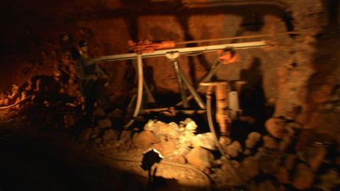 mining tunnel 10 Stock Video Footage