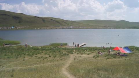 Lake Shunet View Stock Video Footage