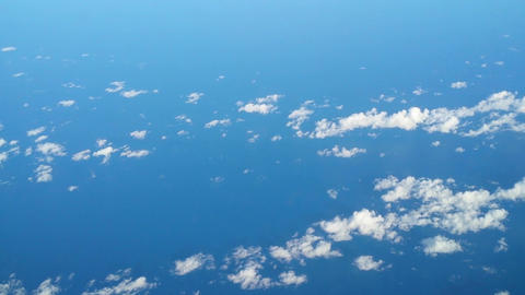 fly high over clouds and ocean 11147 Stock Video Footage