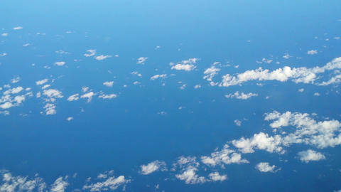 Fly High Over Clouds And Ocean 11147 stock footage